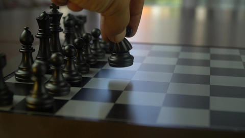 wonderful chess figures and business strategy concept GIF