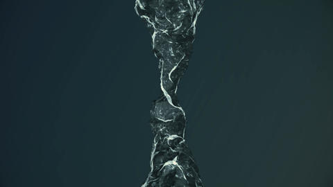 The motion of water in zero gravity Animation