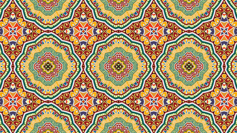 Abstract ethnic pattern. Geometric pattern and star shapes Animation