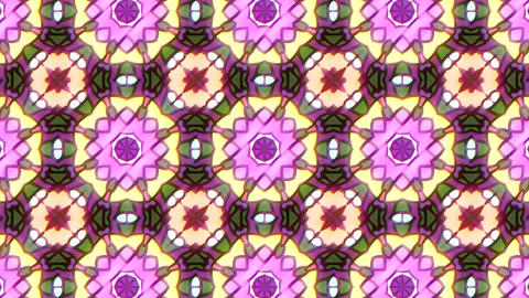 Pink kaleidoscope sequence patterns. 4K Animation