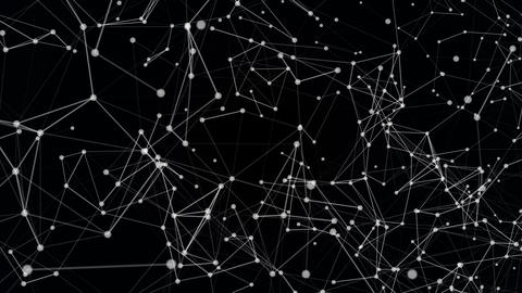 Abstract white plexus particles video moving background with shine on background Animation