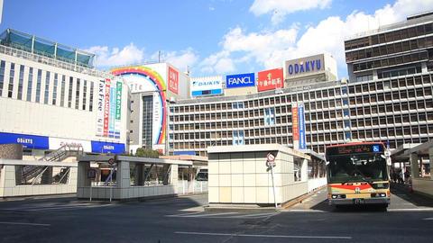 Bus station wide shot at Shinjuku station west side ビデオ