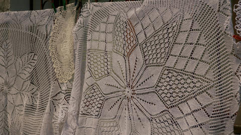 Traditional handmade doily Live Action