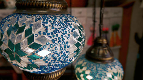 Traditional muslim style lamp Footage