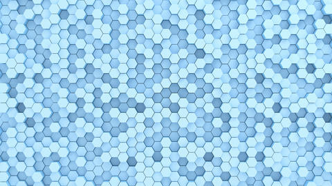 Beautiful Abstract Hexagonal Background Stock Video Footage