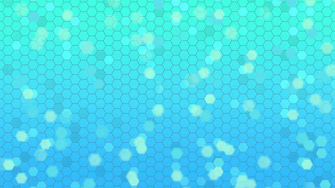 Beautiful Soft Abstract Background with Flying Hexagonal Elements Animation
