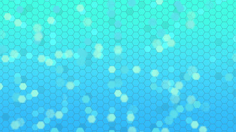 Beautiful Soft Abstract Background with Flying Hexagonal... Stock Video Footage