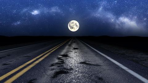 Driving night road loop Animation