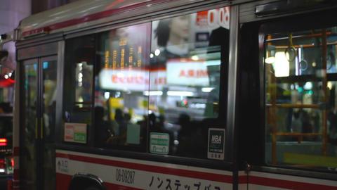 Neon board at Dougen Street in Shibuya night ビデオ