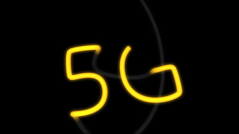 5G connectivity background animation Stock Video Footage