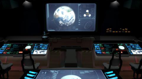 Futuristic science fiction command center V2 Animation
