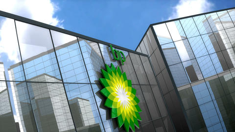 Editorial BP logo on glass building Animation