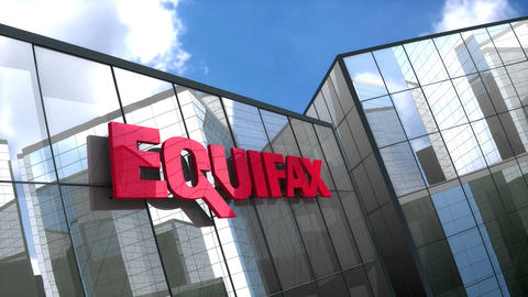 Editorial, Equifax Inc. logo on glass building Animation