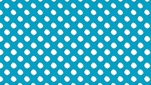 Abstract isometric background white cylinders diagonal waves motion Animation