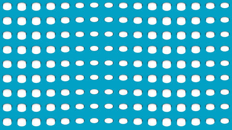 Abstract isometric background white cylinders horizontal waves up and down Animation