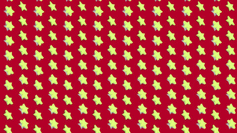 Abstract isometric background yellow stars vertical waves motion Animation
