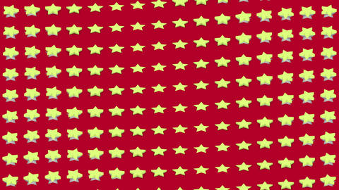 Abstract isometric background yellow stars waves motion Animation
