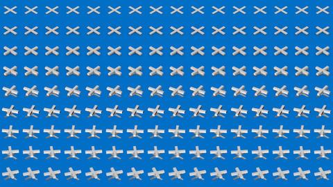 Abstract isometric background white crosses pluses horizontal wave Animation