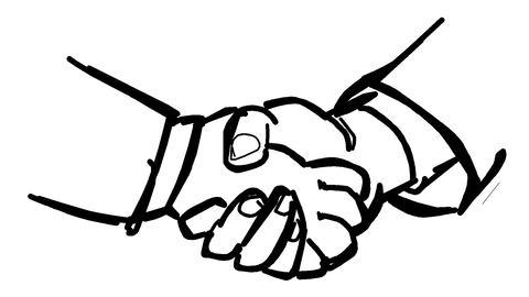 握手-変化アニメーション CG動画