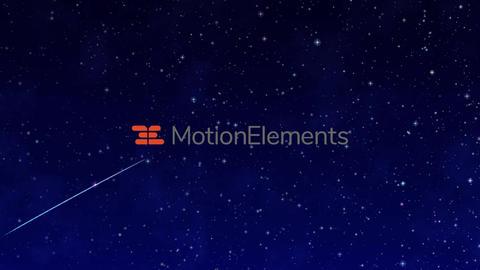 星空と流れ星 particular必要 After Effectsテンプレート