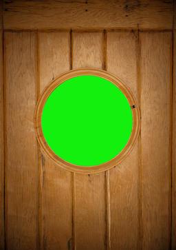 View of the ship s wooden cabin window concept - Green Screen Fotografía