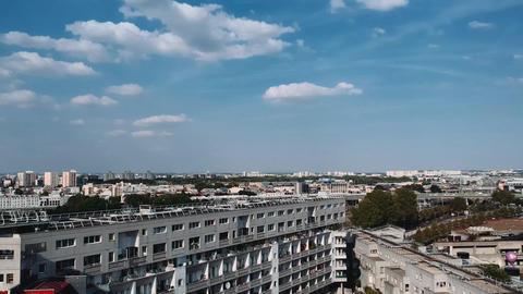 Aerial view - Famous place- cite de la science- parc de la Vilette Live Action