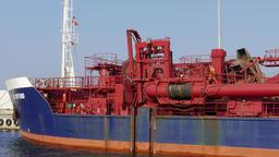 Transport and reloading barge. Transshipment vessel Live Action