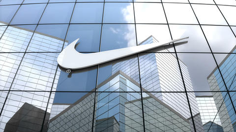 Editorial, NIKE logo on glass building Animation