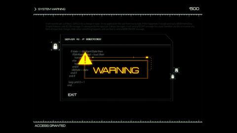 White HUD Server Warning Interface Graphic Element Animation