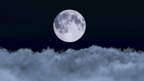 Moon in the Night Sky Animation