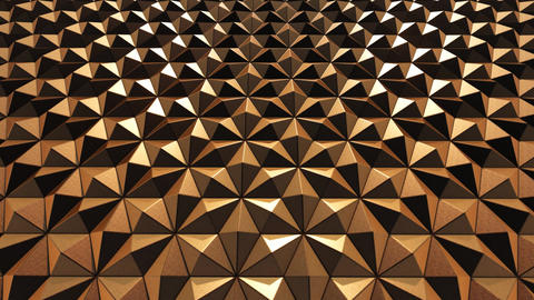 Triangles Copper background Animation