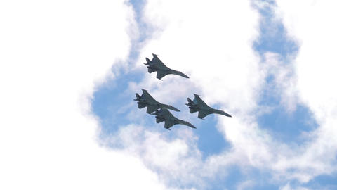 Russian falcons aerobatic team GIF