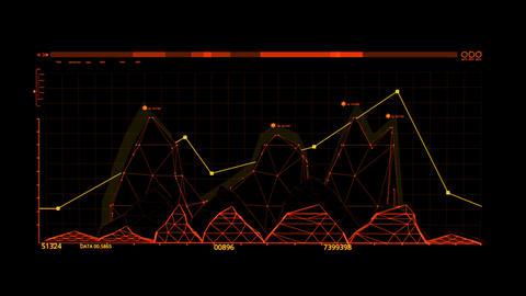 Orange HUD Infographic Hologram Interface Graphic Element Animation