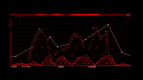 Red HUD Infographic Hologram Interface Graphic Element Animation