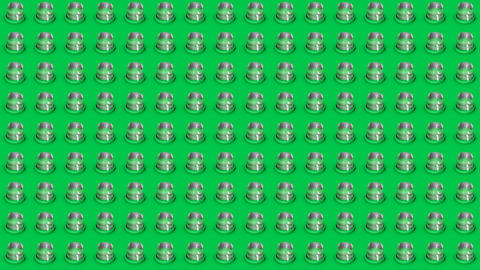 Abstract isometric background glass cylinders buttons motion up and down Animation