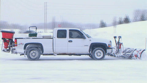 Truck Plowing Snow Live Action