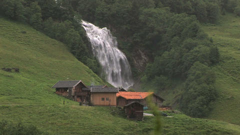 0004 Alpen002 Wasserfall Stock Video Footage