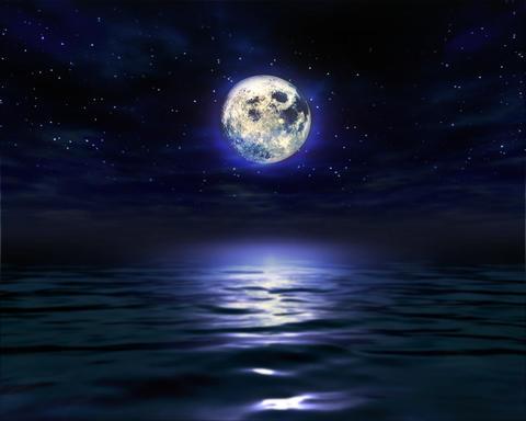 Night Moon Water 1280 Stock Video Footage