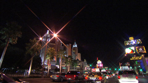 Driving Las Vegas Blvd 4 1 Stock Video Footage