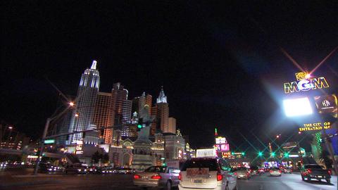 Driving Las Vegas Blvd 4 1 Stock Video Footage