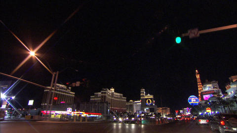 Driving Las Vegas Blvd 5 1 Stock Video Footage