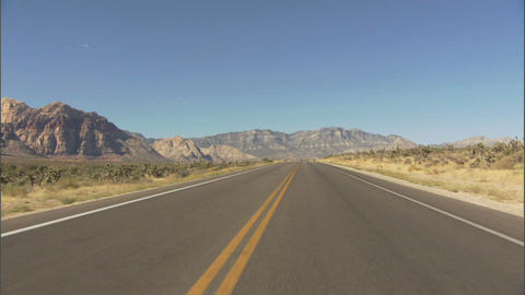 Driving Red Rock 2 1 Stock Video Footage