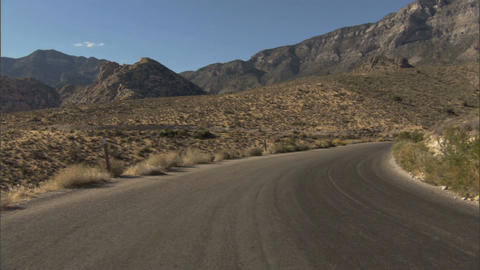 Driving Red Rock LoopA 1 Stock Video Footage