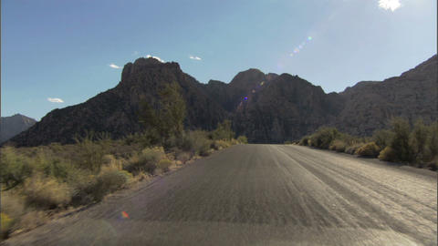Driving Red Rock Loop 2A 1 Stock Video Footage