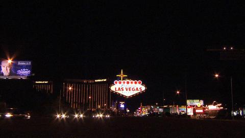 Las Vegas Sign Wide 1 Stock Video Footage