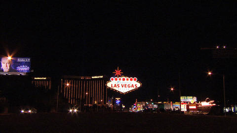 Las Vegas Sign Wide 1 Footage