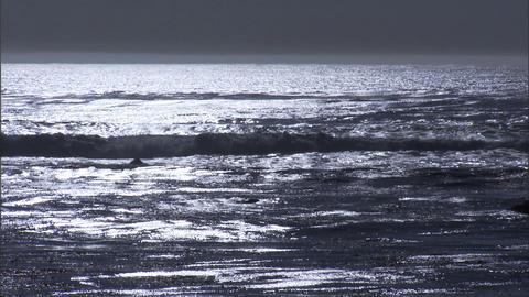 Ocean Colorless 1 Stock Video Footage