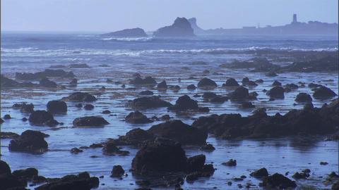 Ocean Rocks Blue 1 Stock Video Footage