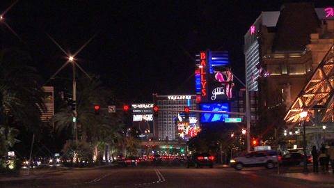 Traffic Las Vegas Blvd 1 Stock Video Footage