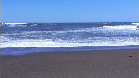 Waves Wide 1 Stock Video Footage